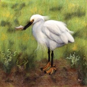 Snowy Egret.12 x 12